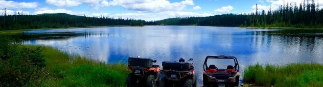 Quad on lake